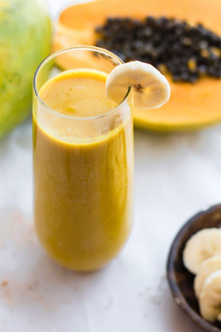 Tumeric Golden Milk Vegan Smoothie