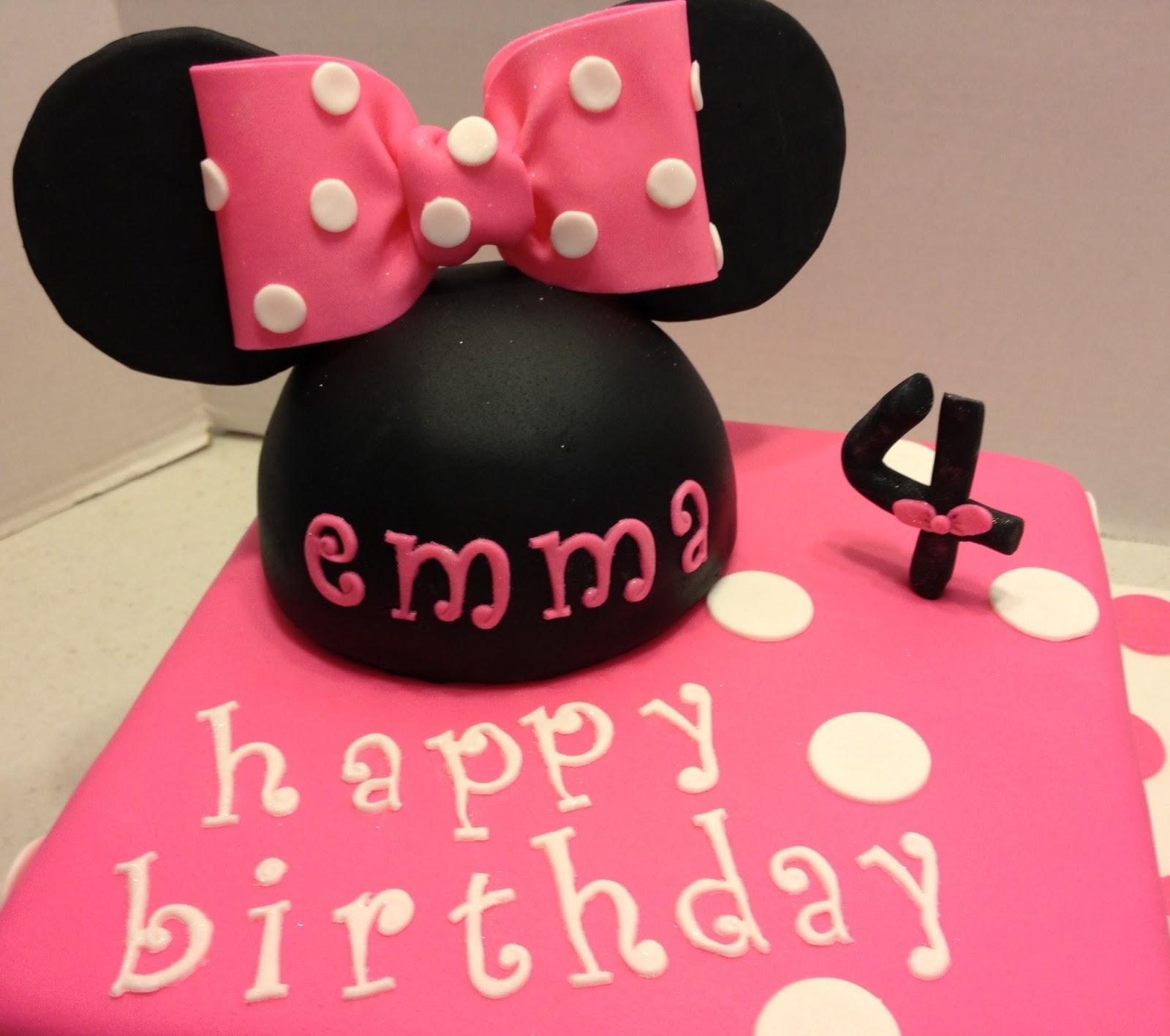 MaryMel Cakes: Emma's Minnie Mouse Birthday