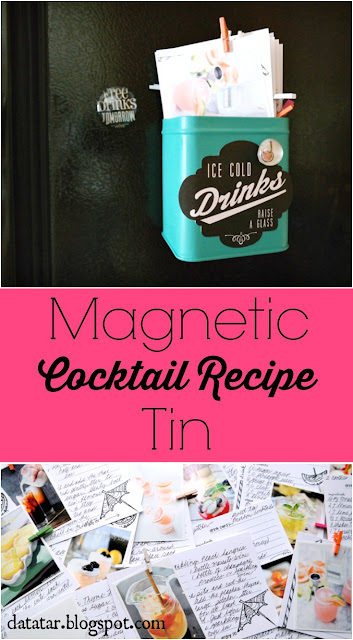 Magnetic Cocktail Recipe Tin Tutorial by Dana Tatar for Canvas Corp Brands