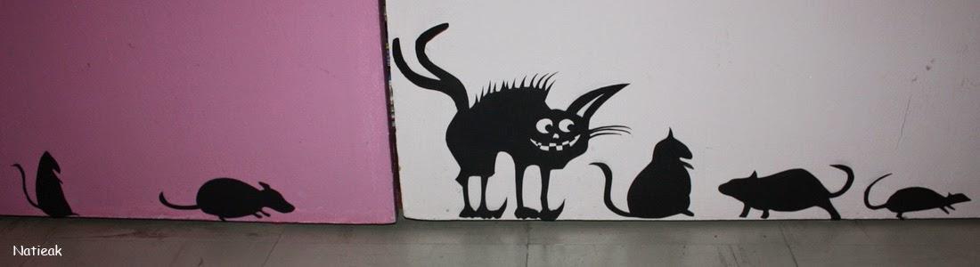 DIY déco d'Halloween chat noit et souris