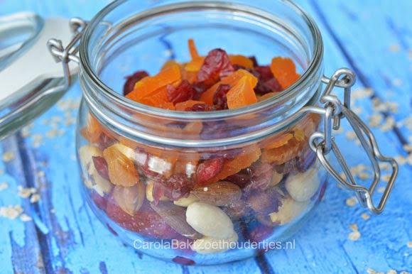cranberry's en gedroogd fruit Overnight oats