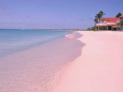Arenas rosas en Bahamas