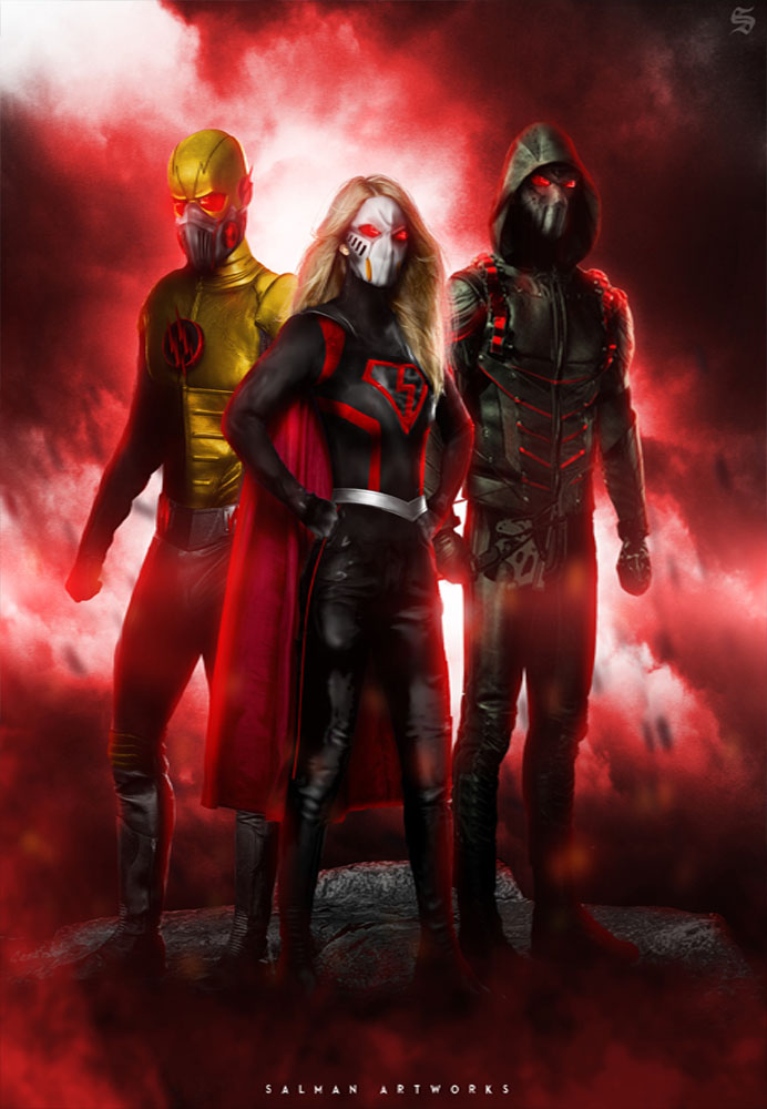 Crisis On Earth-X Part 1 , 2 , 3 and 4 - Nice PLace