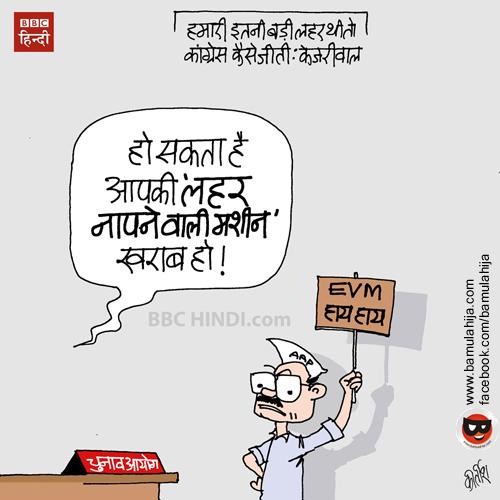 arvind kejriwal cartoon, AAP party cartoon, evm, up election cartoon, punjab elections cartoon, Delhi election, indian political cartoon, cartoons on politics