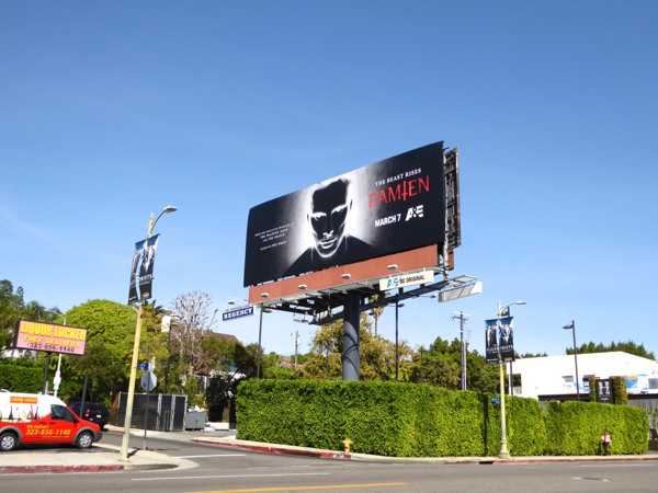 Damien TV series billboard