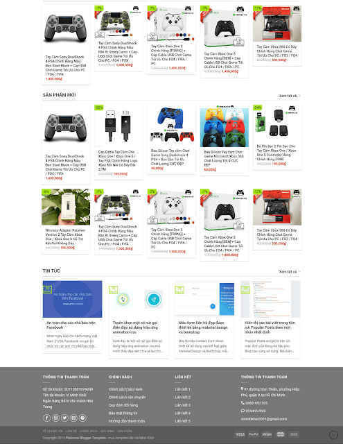 Template blogspot bán hàng cao cấp ShopTayCam - Giaodienblog.com