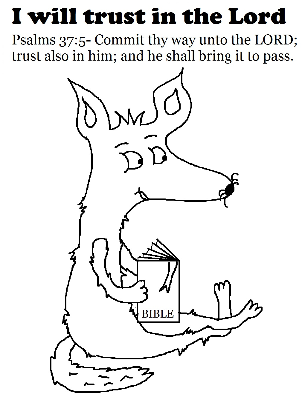 Church House Collection Blog: Trust In The Lord Coloring Page