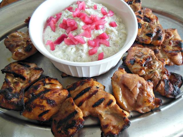 Red Onion Chicken and Tzatziki
