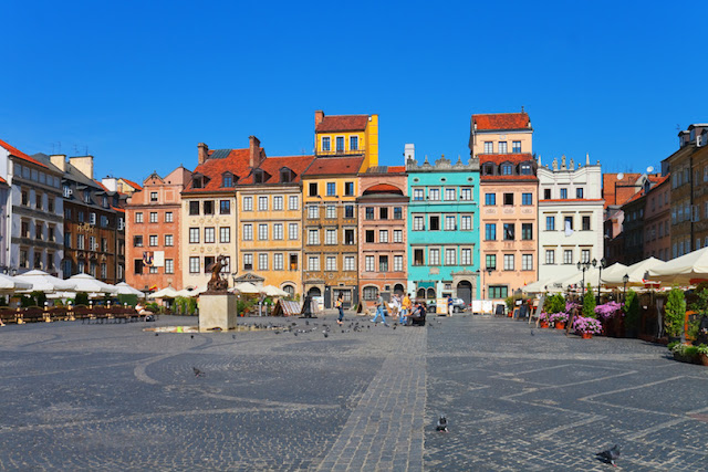 Warsaw Old Market Place,Poland