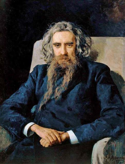 Vladimir Soloviev, pensador esotérico russo (1853 - 1900). Nikolai Yaroshenko  (1846 – 1898), Galeria Tretyakov, Moscou.