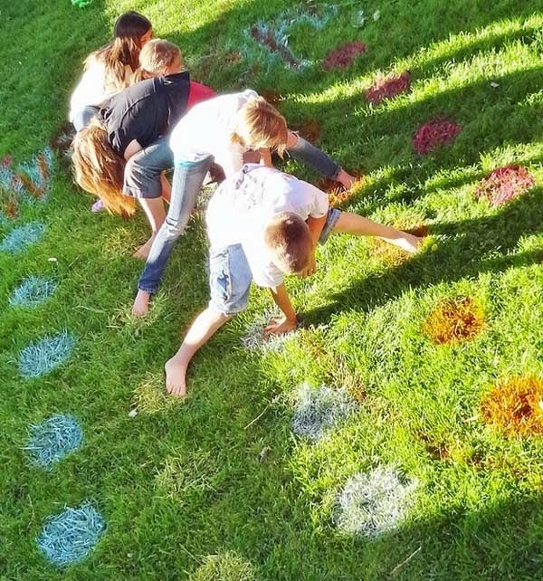 24.) Build a game of Twister on the lawn. - These 29 Do-It-Yourself Backyard Ideas For Summer Are Totally Awesome. Definitely Doing #10!