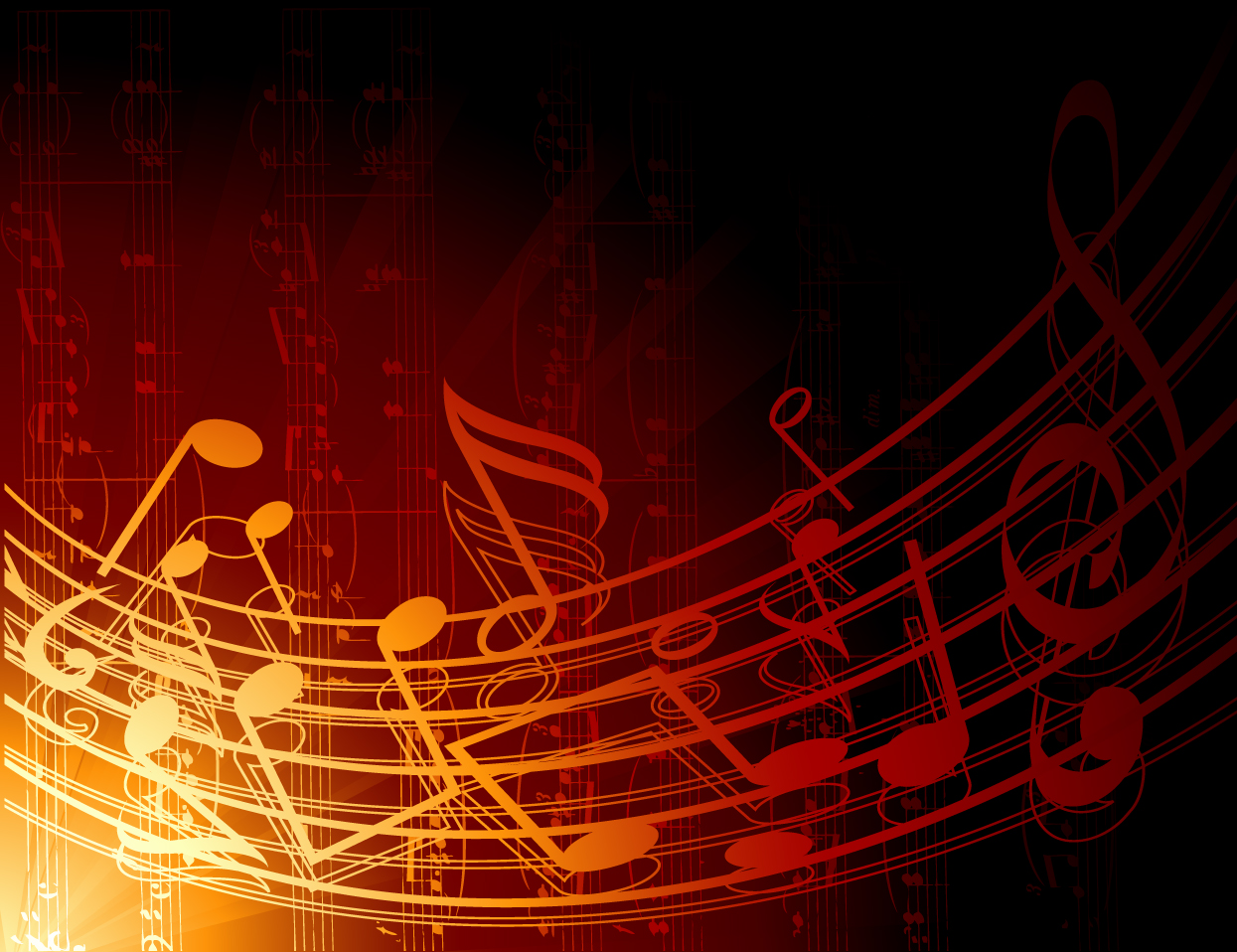 Music Notes Background: Music Background