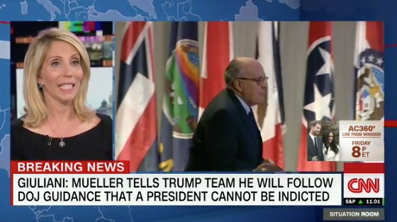 Giuliani: Mueller's team told Trump's lawyers they can't indict a president