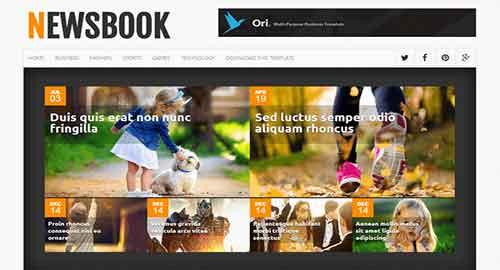 NewsBook Blogger Template