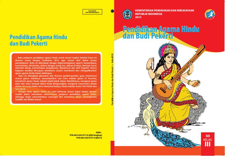 Download Gratis Buku Siswa Pendidikan Agama Hindu Dan Budi Pekerti Kelas 3 SD Kurikulum 2013 Format PDF