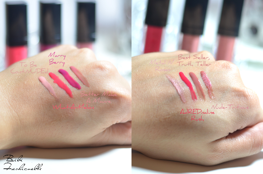 Catrice Shine Appeal Fluid Lipstick Swatches