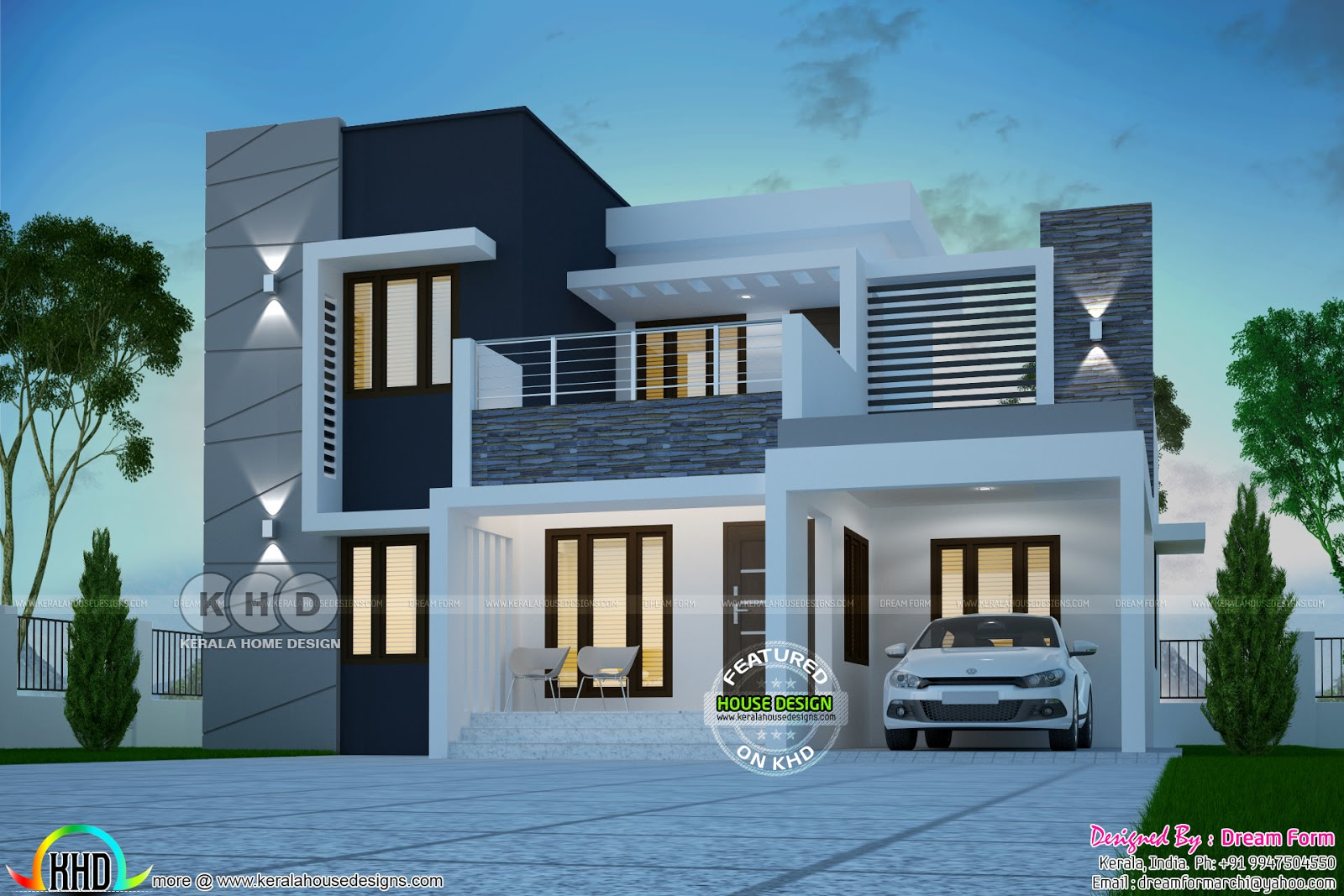 modern house contemporary - 32+ Modern Small House Design In Kerala PNG