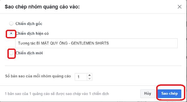 Cách Tạo Nhanh Quảng Cáo Facebook Bằng Chức Năng Copy 5