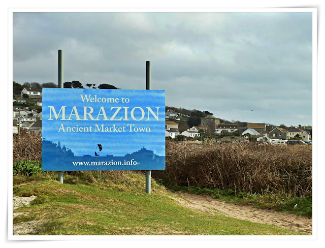 Marazion, Cornwall sign post