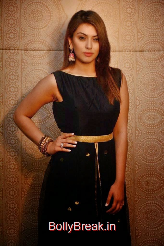 Telugu Actress Hansika, Hansika Latest Hot Pics In Black Dress from Emerald Flats Launch Event