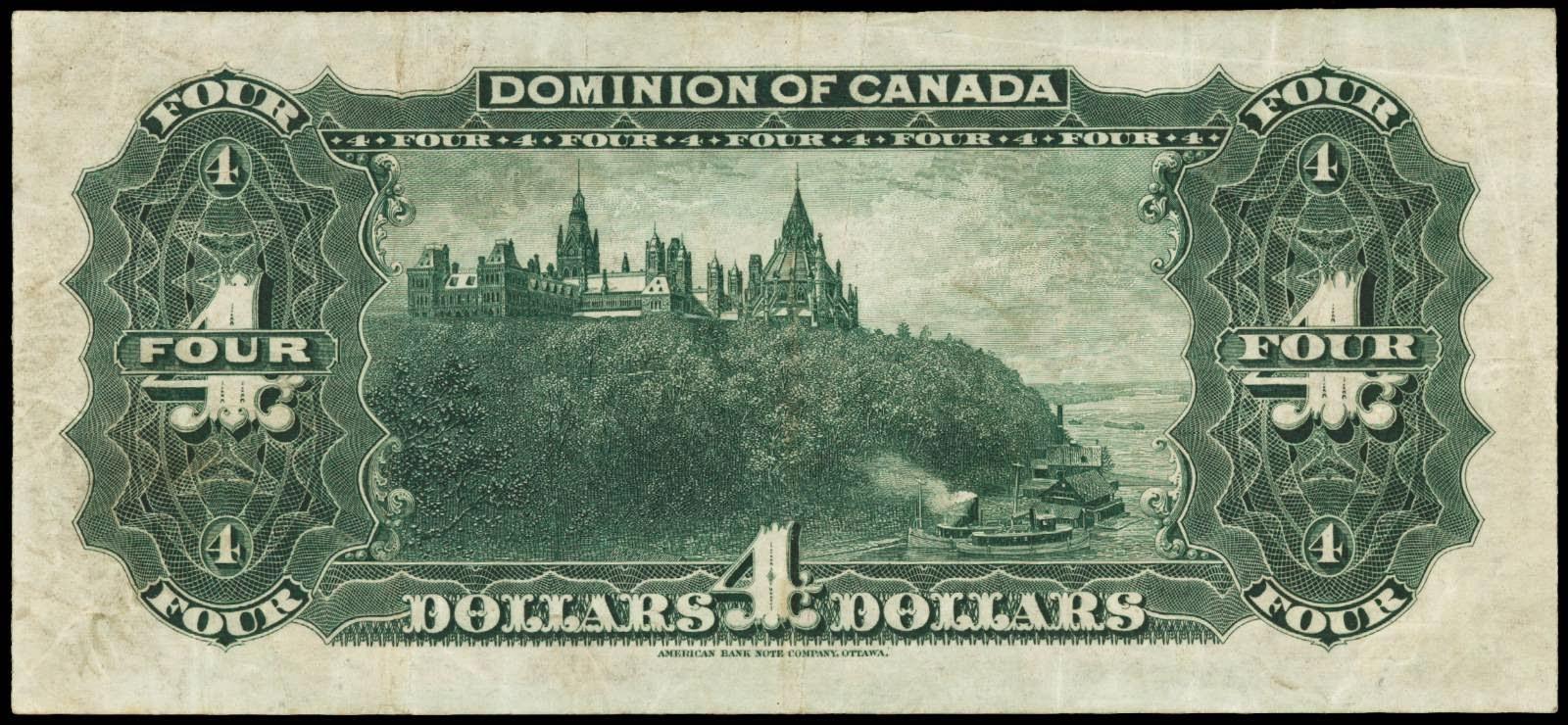 Dominion of Canada 1900 4 Dollar Bill