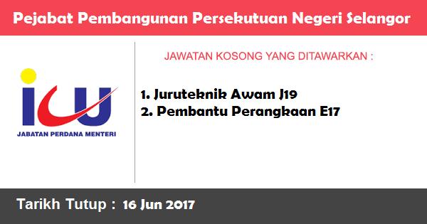 Jawatan Kosong di Pejabat Pembangunan Persekutuan Negeri Selangor