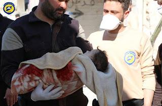 Innalillahi, Serangan Gas Klorin oleh Syiah Nushairiyah di Idlib Membunuh 70 Warga Suriah