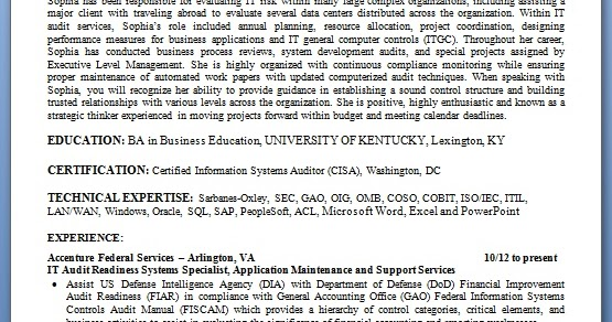 it audit readiness systems specialist sample resume format in word free download