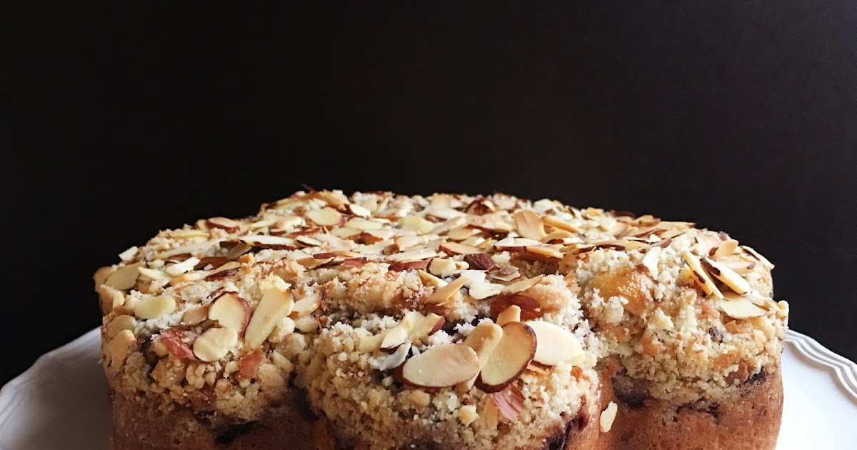 Berry Almond Crumb Tea Cake