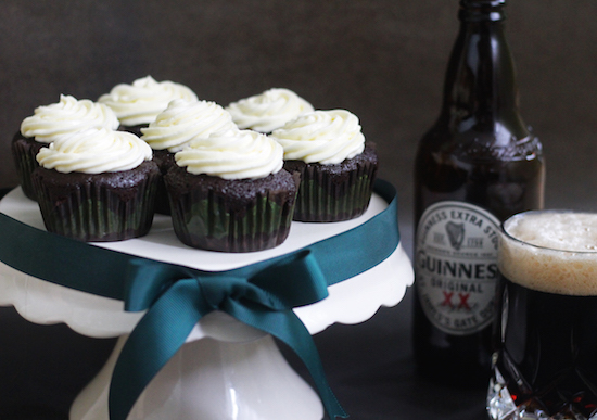 Guinness cupcakes cream cheese icing