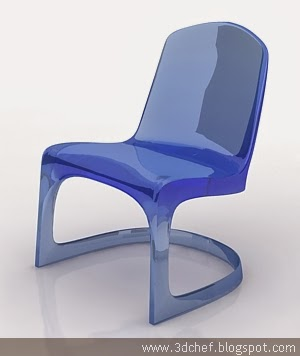 Transparent Chair 3d model free