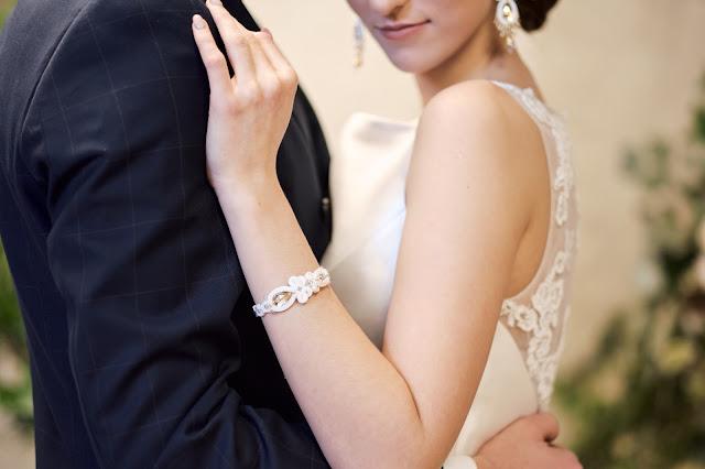 Bransoletka ślubna sutasz.