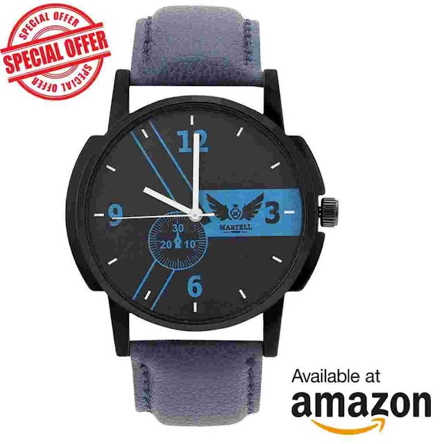 Amazon – Buy Leather Strap Analog Sports/Stylish Watch for Rs 159