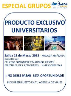 EXCLUSIVO UNIVERSITARIOS - ¿Eres universitario?, oferta crucero 2013