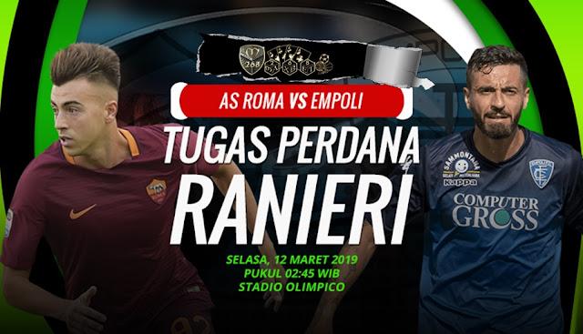 Prediksi AS Roma Vs Empoli, Selasa 12 Maret 2019 Pukul 02.45 WIB