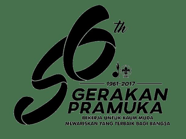 Logo 56 th Gerakan Pramuka (Hitam-Putih)