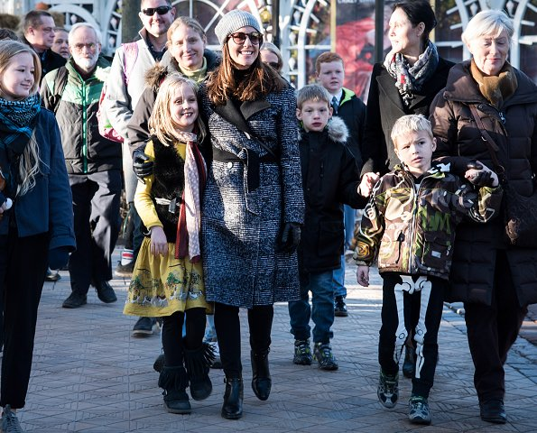 Danish Princess Marie visited Tivoli Amusement Park together with autistic children and their families