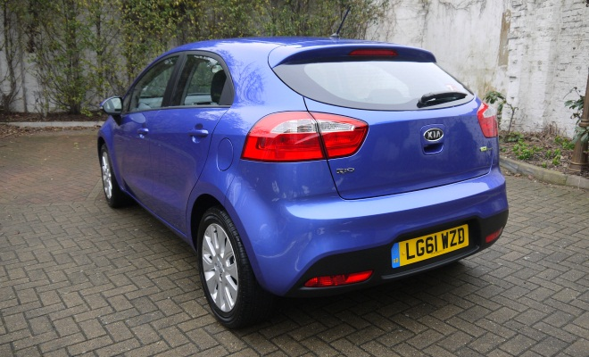 Kia Rio from the rear