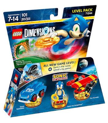 TOYS : JUGUETES - LEGO Dimensions  71244 Sonic the Hedgehog : Level Pack  Figuras - Muñecos - Videojuegos  2016 | Piezas: 101 | Edad: 7-14 años  Comprar en Amazon España & buy Amazon USA