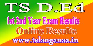 Telangana TS D.Ed 1st 2nd Year Results 2016 Online