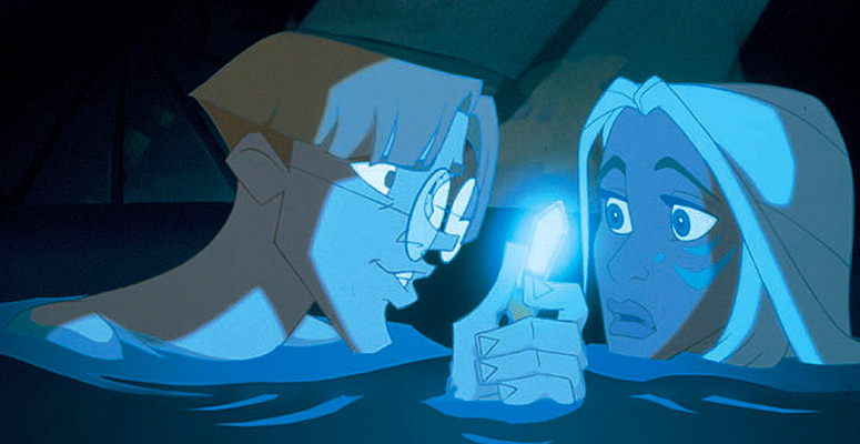 "Milo, Kida, crystal ""Atlantis: The Lost Empire"" 2001 animatedfilmreviews.blogspot.com"