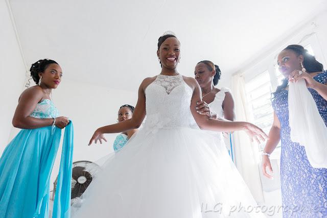 mariage Guadeloupe mariée dans sa robe