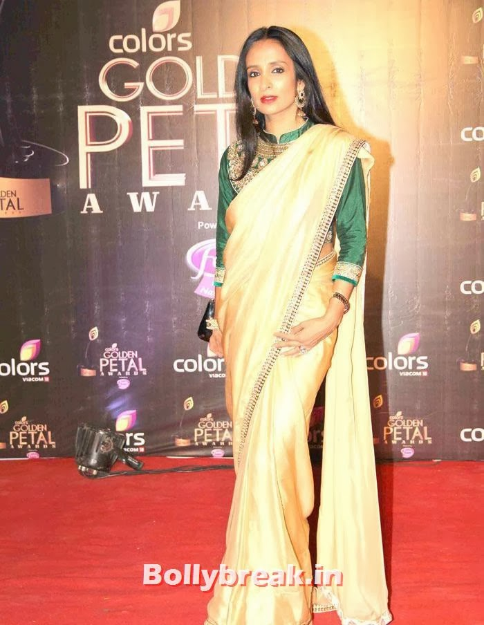Suchitra Pillai, Colors Golden Petal Awards Dec 2013 Photos