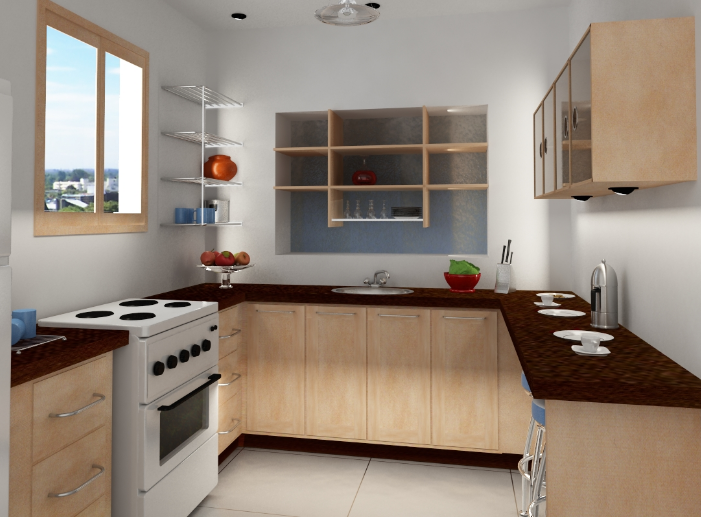 Sketsarumahminimalisdot Bentuk Dapur U