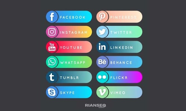 Cara Membuat Wigdet Sosial Media Keren di Blog WordPress dan Blogger