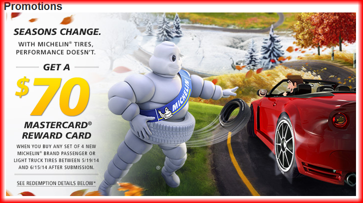 michelin rebate june 2014