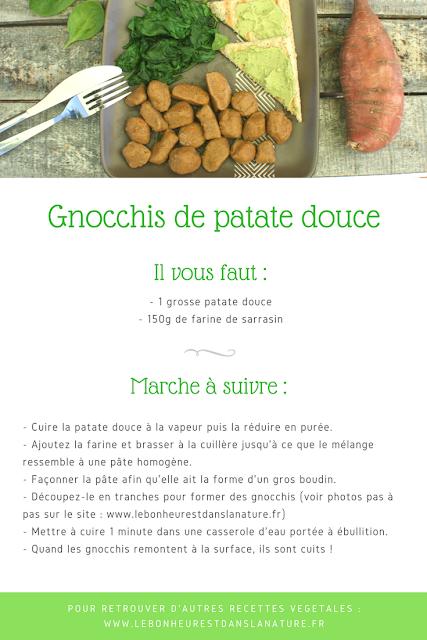 gnocchis patates douces recette végétale vegan