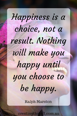 Happiness is a choice - not a result of our circumstances or other people