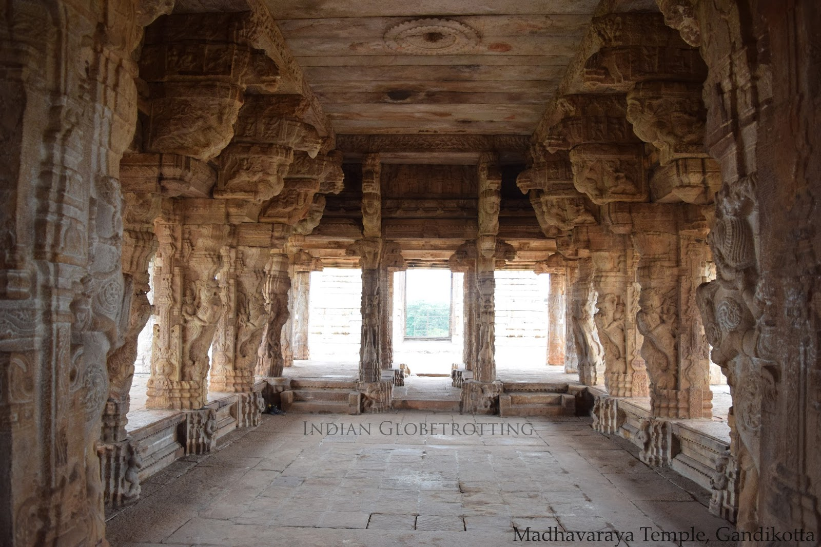 Open hall at Madhavaraya Temple in Gandikotta