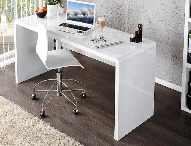 best buy white gloss modern office furniture Amazon for sale cheap